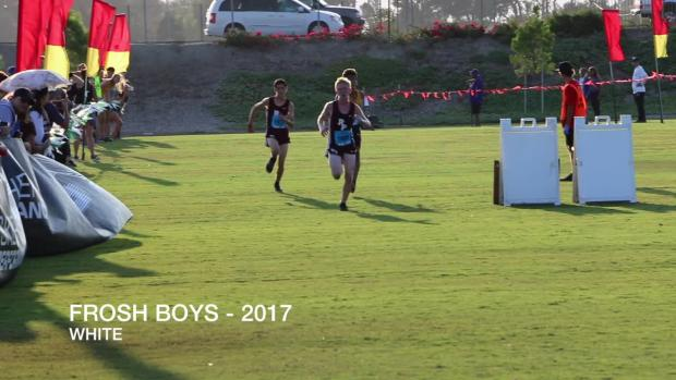 FROSH BOYS WHITE Race Woodbridge Cross Country Classic