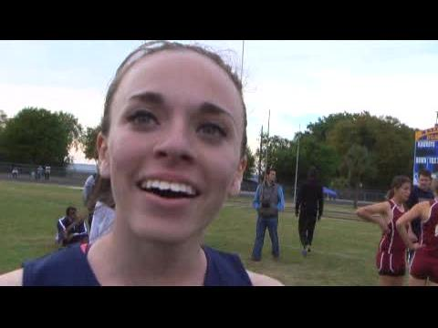 Interview: Rachel Cazares - 800m Champion Kowboy Invitational Mar 9, 2013 - 34933