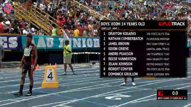 Boys 800 Finals Section 1 - 14 YO | AAU Junior Olympic Games